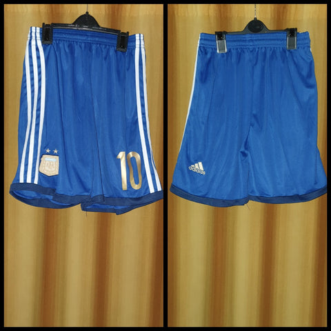 2013-14 Argentina Away Shorts Size Medium - #10