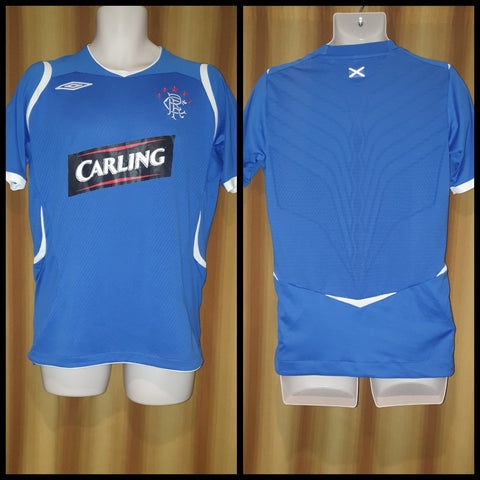 2008-09 Rangers Home Shirt Size Small