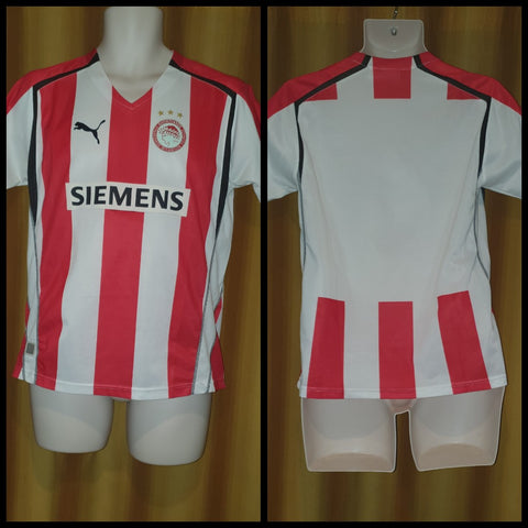 2005-06 Olympiacos Home Shirt Size XL Boys