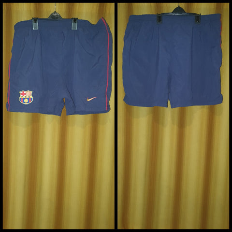 2000-01 Barcelona Home Shorts Size Extra Large