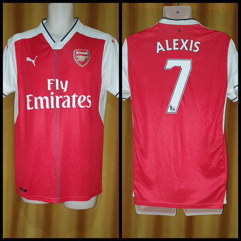 2016-17 Arsenal Home Shirt Size Medium – Alexis #7