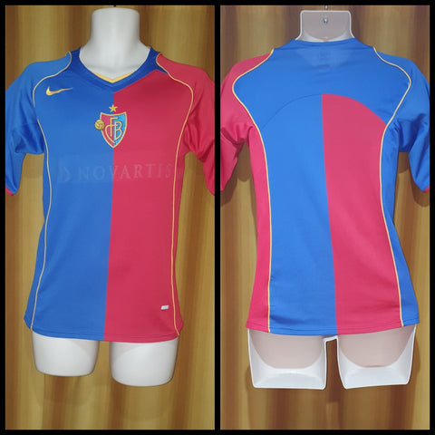 2004-06 FC Basel Home Shirt Size Extra Small