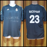 2003-04 Real Madrid Away Shirt Size Medium - Beckham #23