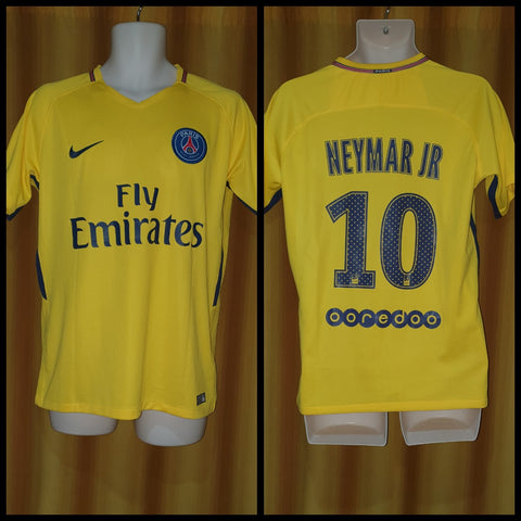 2017-18 Paris Saint Germain Away Shirt Size Medium - Neymar Jr #10