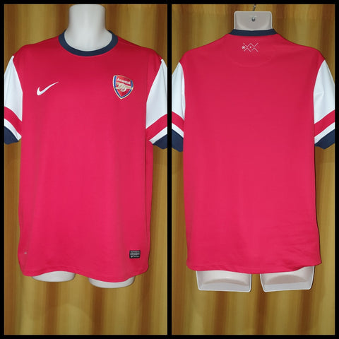 2012-14 Arsenal Home Shirt Size Large