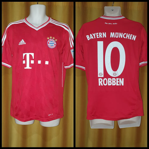 2013-14 Bayern Munich Home Shirt Size Medium - Robben #10