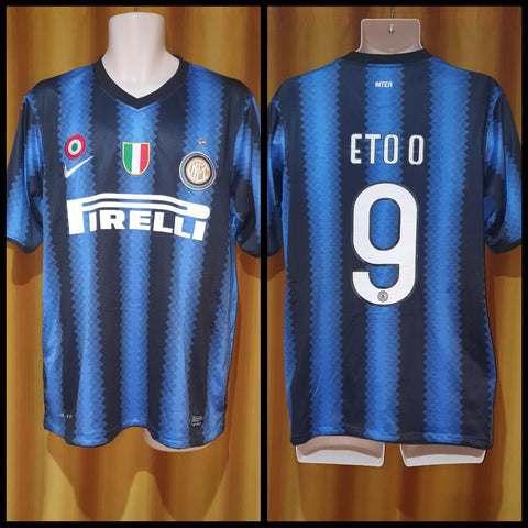 2010-11 Inter Milan Home Shirt Size Medium - Eto'o #9