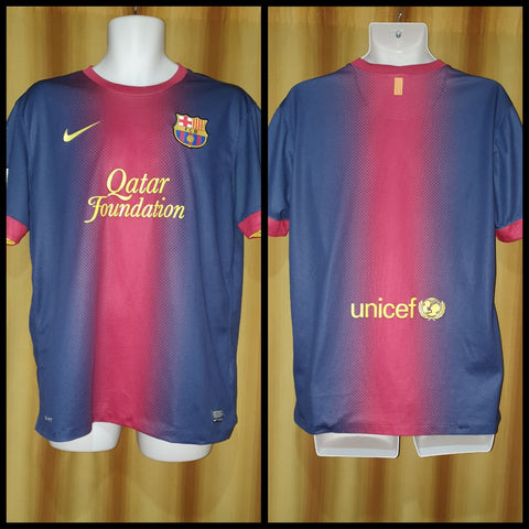 2012-13 Barcelona Home Shirt Size Large