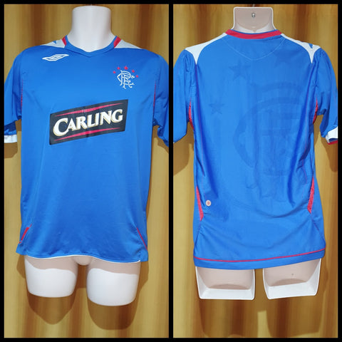 2006-07 Rangers Home Shirt Size Medium