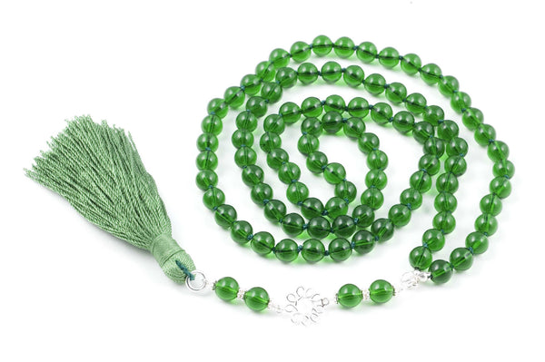 Green Glass Prayer Beads