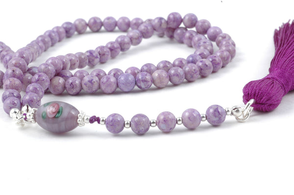 Light Purple Riverstone Prayer Beads