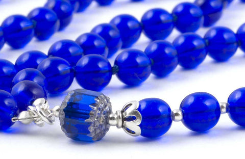 Blue Glass Prayer Beads
