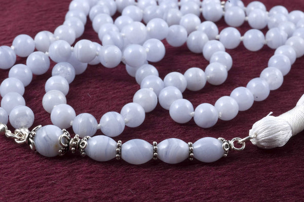 Blue Lace Agate Prayer Beads