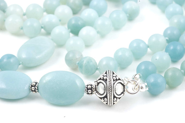 Green Amazonite Prayer Beads