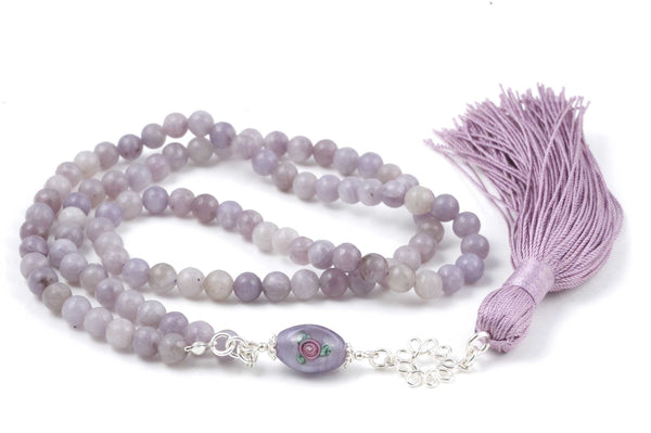Lavender Lilacstone Prayer Beads