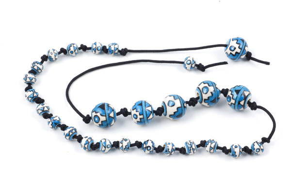 Peruvian Ceramic Prayer Beads (19+5 bead set)