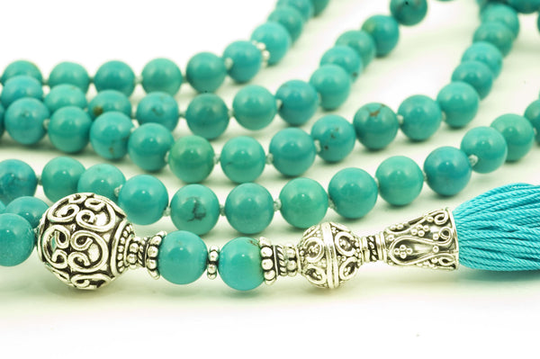 Chinese Turquoise Prayer Beads