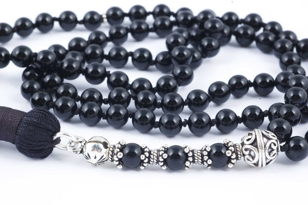 Black Onyx Prayer Beads