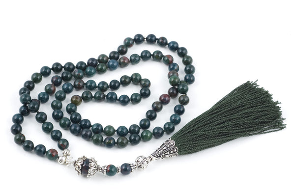 Indian Bloodstone Prayer Beads