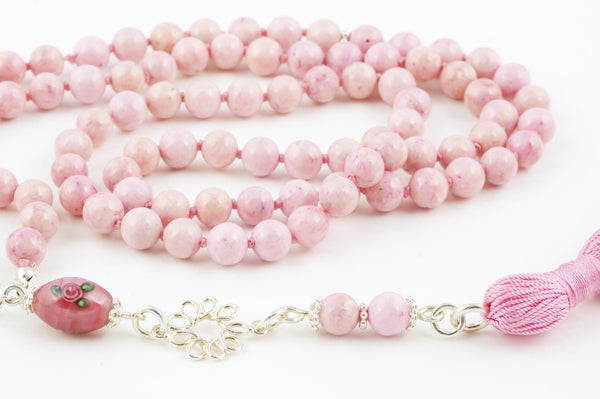 Pink Riverstone Prayer Beads