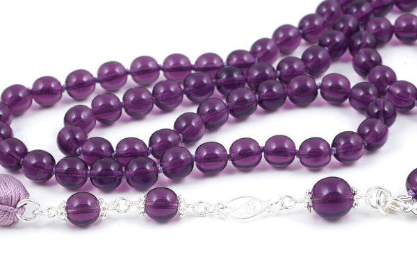 Amythest Glass Prayer Beads