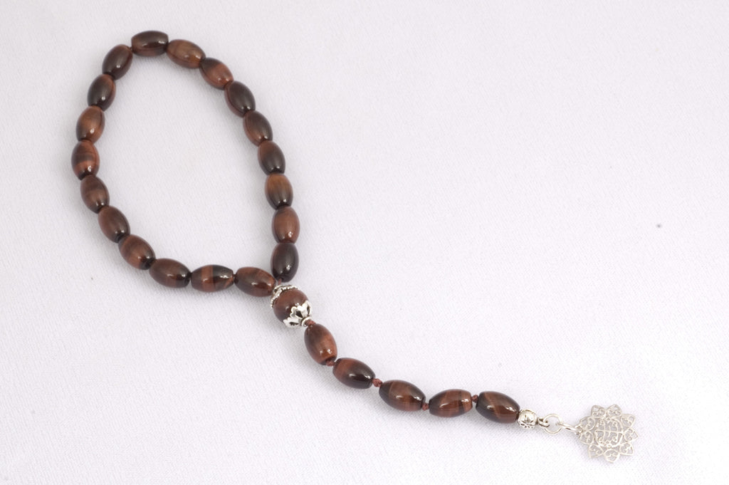 Red Tiger Eye Prayer Beads (19+5)