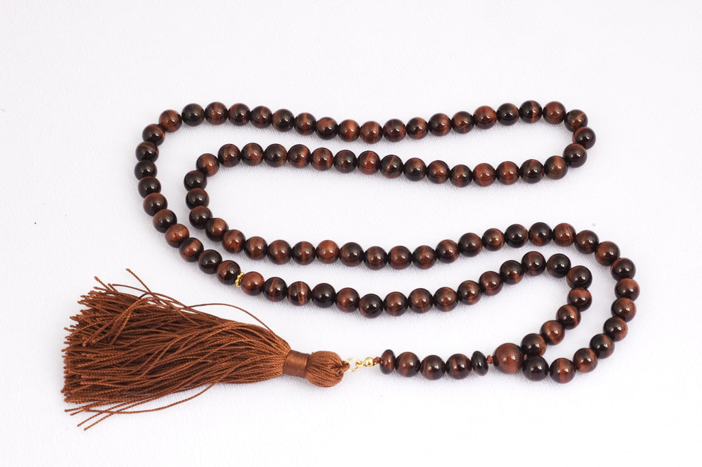 Red Tiger Eye Prayer Beads