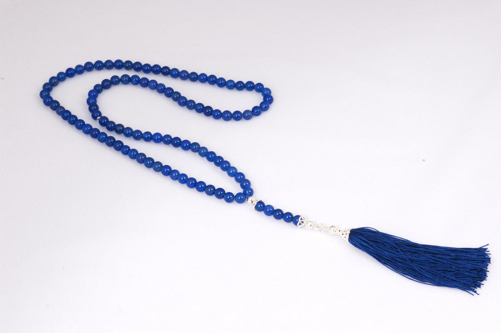 Blue Agate Prayer Beads