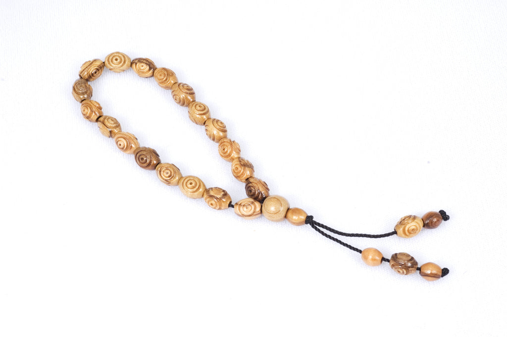 Bethlehem Olive Wood Prayer Beads (19+5)