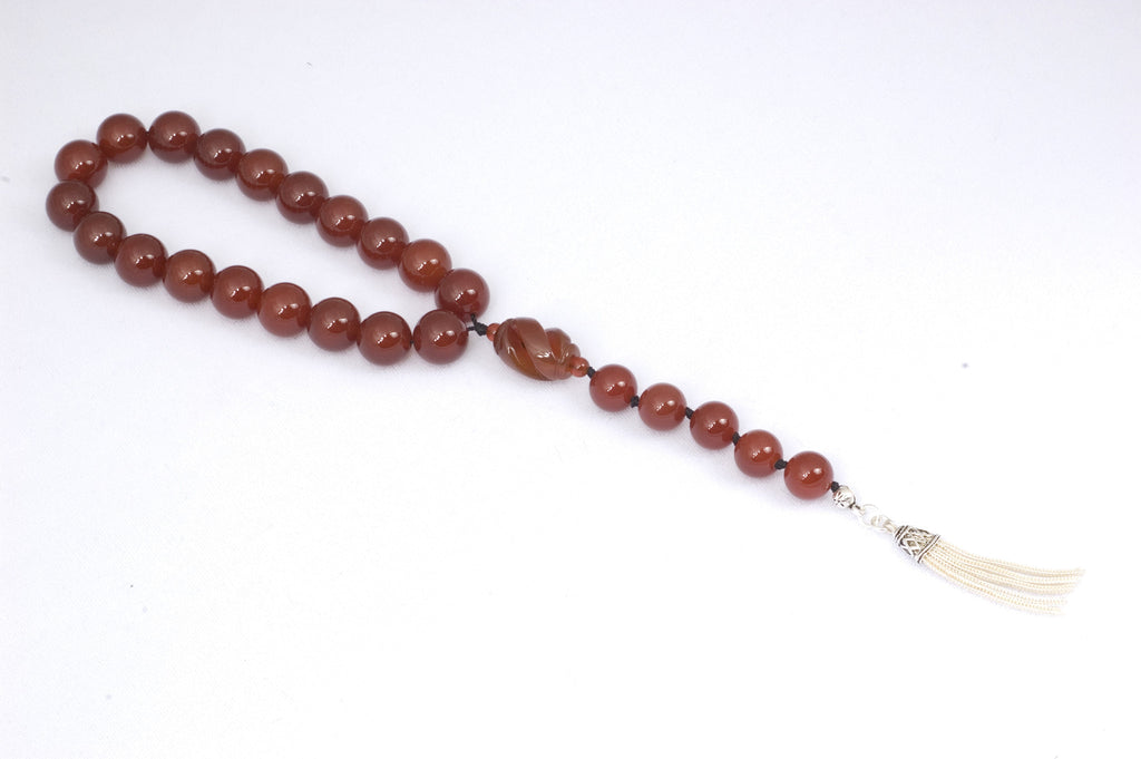 Red Agate Prayer Beads (19+5)
