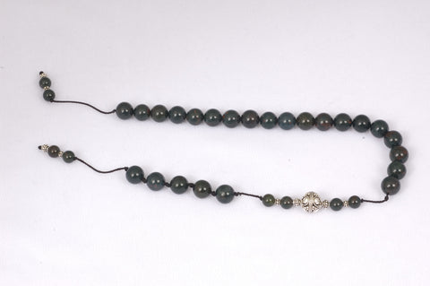 Indian Bloodstone Prayer Beads (19+5)
