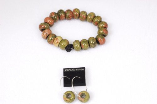 Unakite Prayer Beads Bracelet