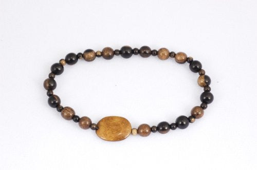 Tiger Ebony and Bone Prayer Beads