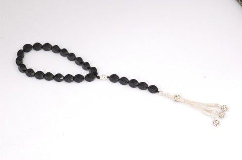 Black Agate Prayer Beads (19+5)