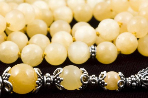Honey Jade Prayer Beads