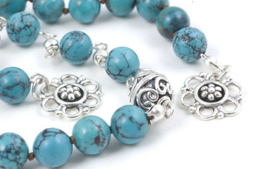 Green Chinese Turquoise Prayer Beads (19+5 bead set)