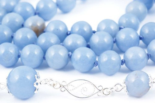 Angelite Prayer Beads