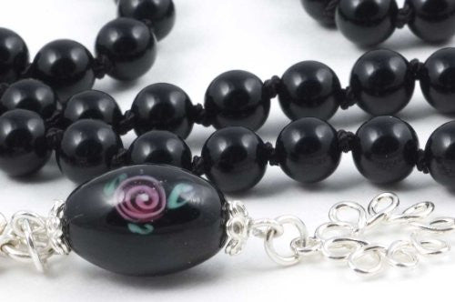 Black Obsidian Prayer Beads