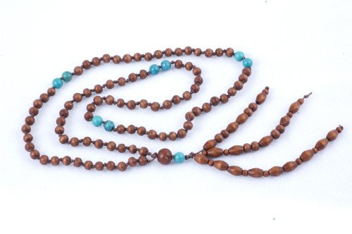 Wooden and Turquoise Prayer Beads