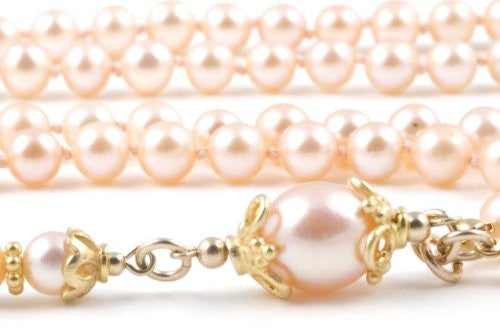 Peach Cultured Pearls Prayer Beads