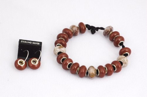 Brown and Rust Jasper Prayer Beads Bracelet