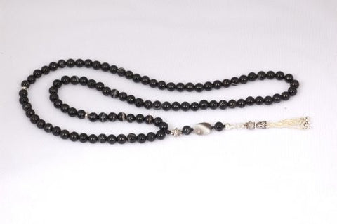 Black Agate Prayer Beads