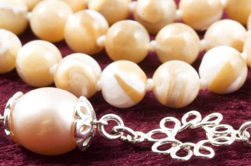 Peach Mother of Pearl Prayer Beads