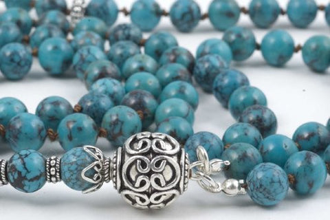 Green Chinese Turquoise Prayer Beads