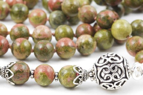 Green and Brown Unakite Prayer Beads