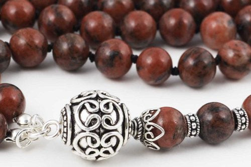 Red Sesame Jasper Prayer Beads