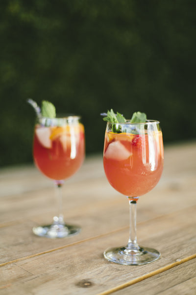 Sangria with RAFT Hibiscus Lavender Syrup