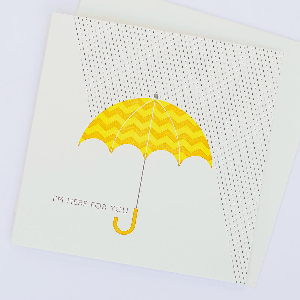Here For You Umbrella Note Card