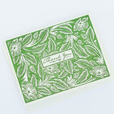 Botanical Thank You Letterpress Card