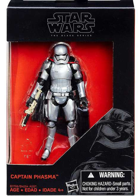"Star wars noir 3.75/"" force réveille WALMART exclusive wave 4 capitaine Phasma mib"